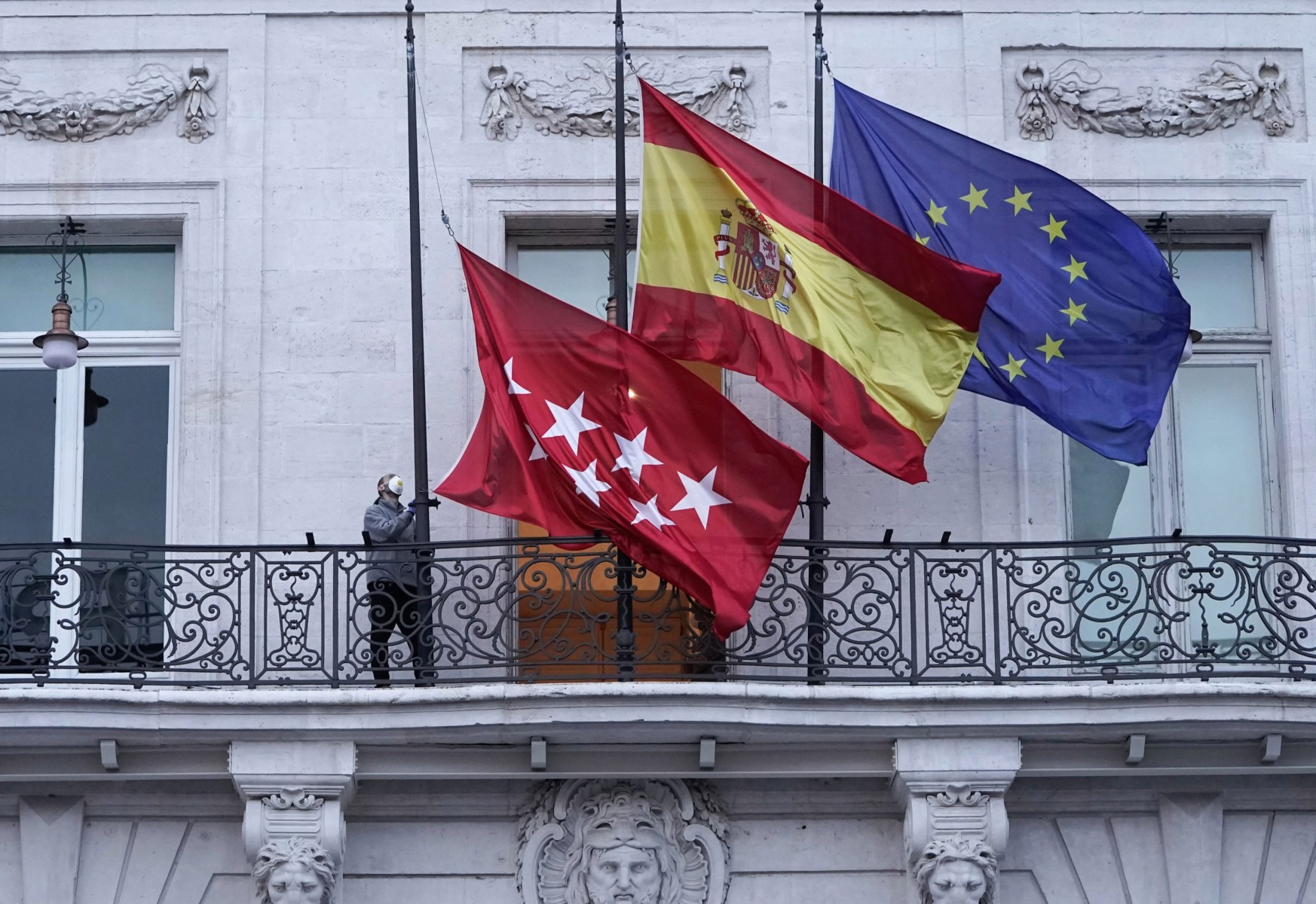 Spain's government has ordered flags be flown at half-mast as a mark of respect to the victims